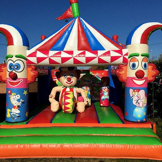 château clown gonflable