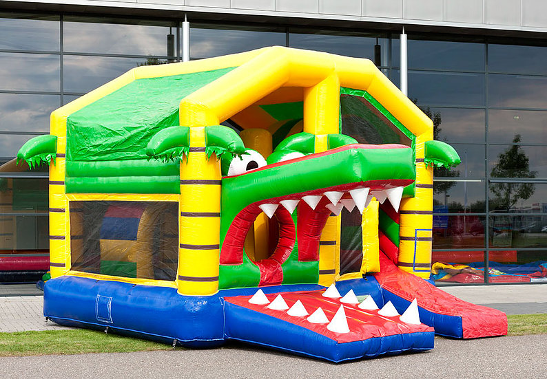 château crocodile gonflable