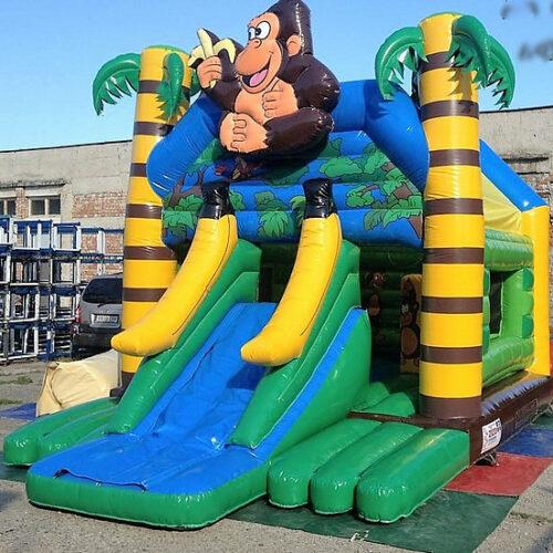 château singe gonflable